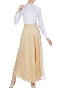 gold-beige-crinkled-effect-maxi-skirt