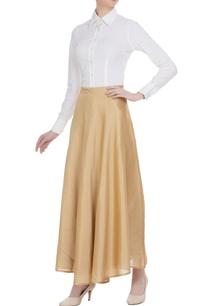 beige-brocade-silk-maxi-flared-skirt
