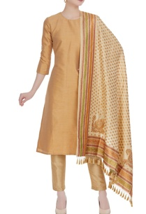cream-brocade-silk-dupatta