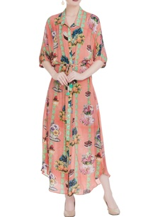 peach-english-tea-party-inspired-crepe-shirt-dress