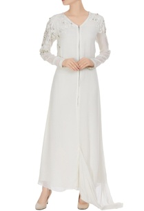 ivory-georgette-embellished-long-tunic