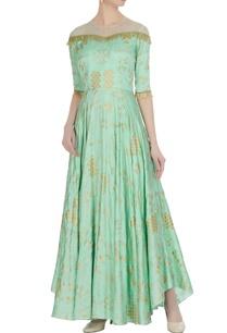 green-dupion-silk-net-hand-embroidered-gown