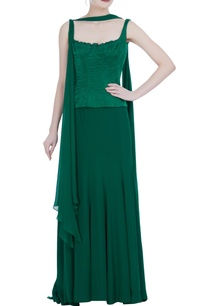 green-corset-with-skirt-and-drape