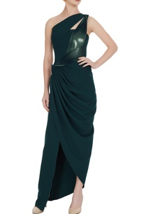 emerald-green-luxury-crepe-one-shoulder-gown