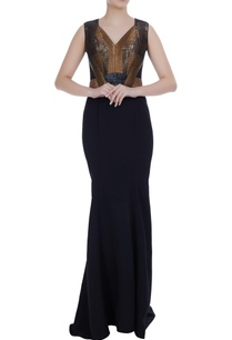 black-gold-stretch-crepe-mermaid-embroidered-bodice-gown