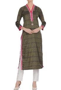 brown-poly-fabric-hand-work-straight-long-kurti