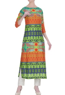 multicolored-printed-kurta