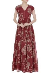 muddy-red-thread-embroidered-maxi-dress