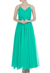 green-noodle-strap-gown