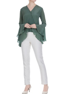 olive-green-crepe-wrap-blouse