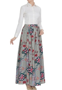 grey-chintz-flared-long-skirt