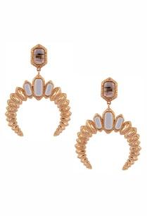crystal-stud-inverted-c-earrings