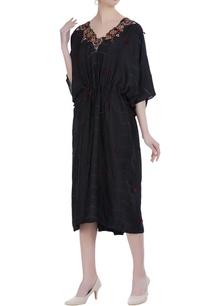 shibori-dyed-tassel-kaftan-dress