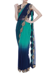 ombre-satin-georgette-sari-with-blouse