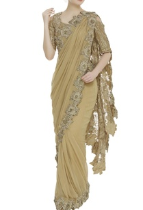 stitched-floral-embroidered-sari-with-sequin-blouse