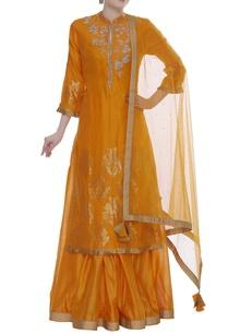 chanderi-jaal-and-floral-cutdana-embroidered-kurta-set