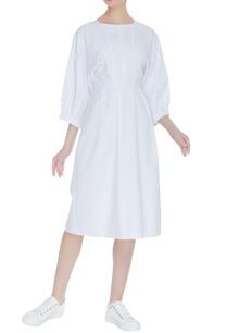 cotton-pleated-dress