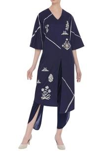hand-embroidered-asymmetric-kurta-set
