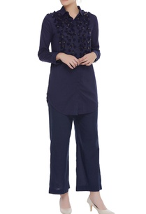 full-sleeves-shirt-with-embroidered-yoke
