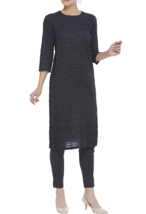 stripe-textured-tunic-with-side-slit