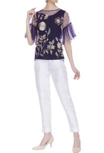net-sheer-ruffle-sleeve-blouse-with-inner