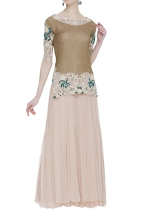 pearl-dori-embroidered-blouse-with-lehenga-skirt