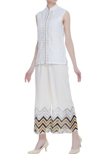 cotton-farshi-pants-with-geometrical-details-at-the-hemline