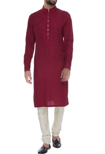 matka-silk-floral-embroidered-kurta-set