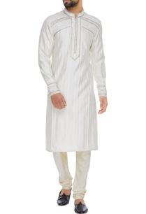 spun-silk-embroidered-kurta-with-churidar