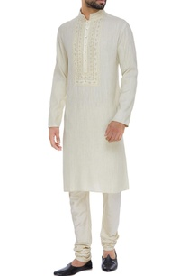 matka-silk-embroidered-kurta-set