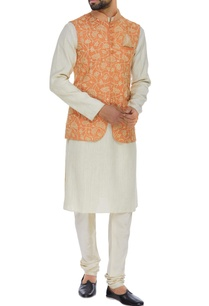 jute-silk-long-nehru-jacket-set
