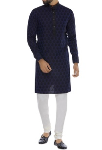 printed-navy-blue-kurta