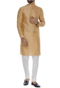 self-embossed-cotton-silk-kurta