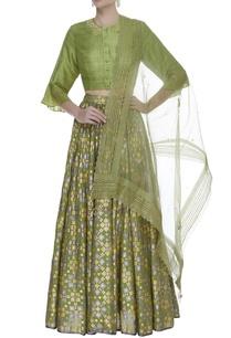 thread-embroidered-blouse-with-lehenga-dupatta