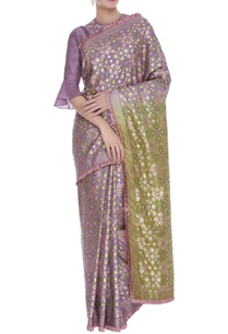floral-embroidered-blouse-with-saree