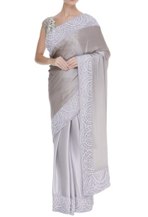 sequin-pearl-embroidered-border-sari-with-unstitched-blouse-fabric