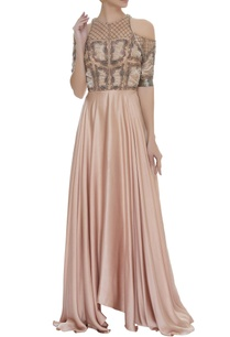 embroidered-incut-flared-gown