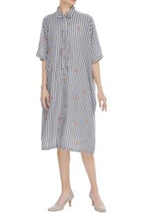 striped-midi-dress-with-booti-work