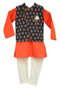printed-nehru-jacket-with-kurta-churidar
