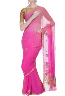 resham-gota-embroidered-saree-with-unstitched-blouse