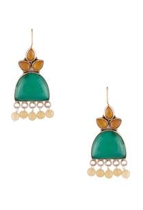 onyx-stone-dangling-earrings