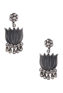 lotus-floral-shape-long-earrings