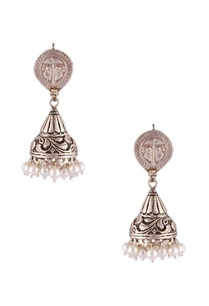 antique-finish-jhumka-statement-earrings