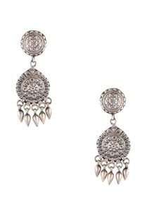 antique-finish-long-drop-earrings