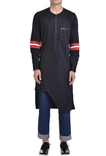 cotton-asymmetric-zipper-kurta