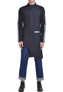 stripe-panel-asymmetric-kurta