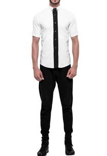 contrast-placket-short-sleeve-shirt
