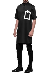 tech-patterned-short-sleeve-kurta