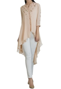 georgette-asymmetric-sequin-shirt
