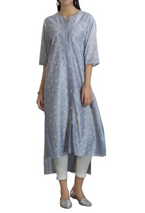 chanderi-button-down-kurta-set